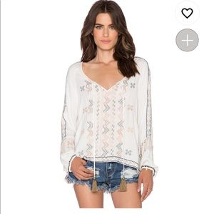 Revolve embroidered top size S